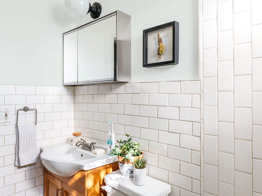 multiple shades of white refresh white bathroom