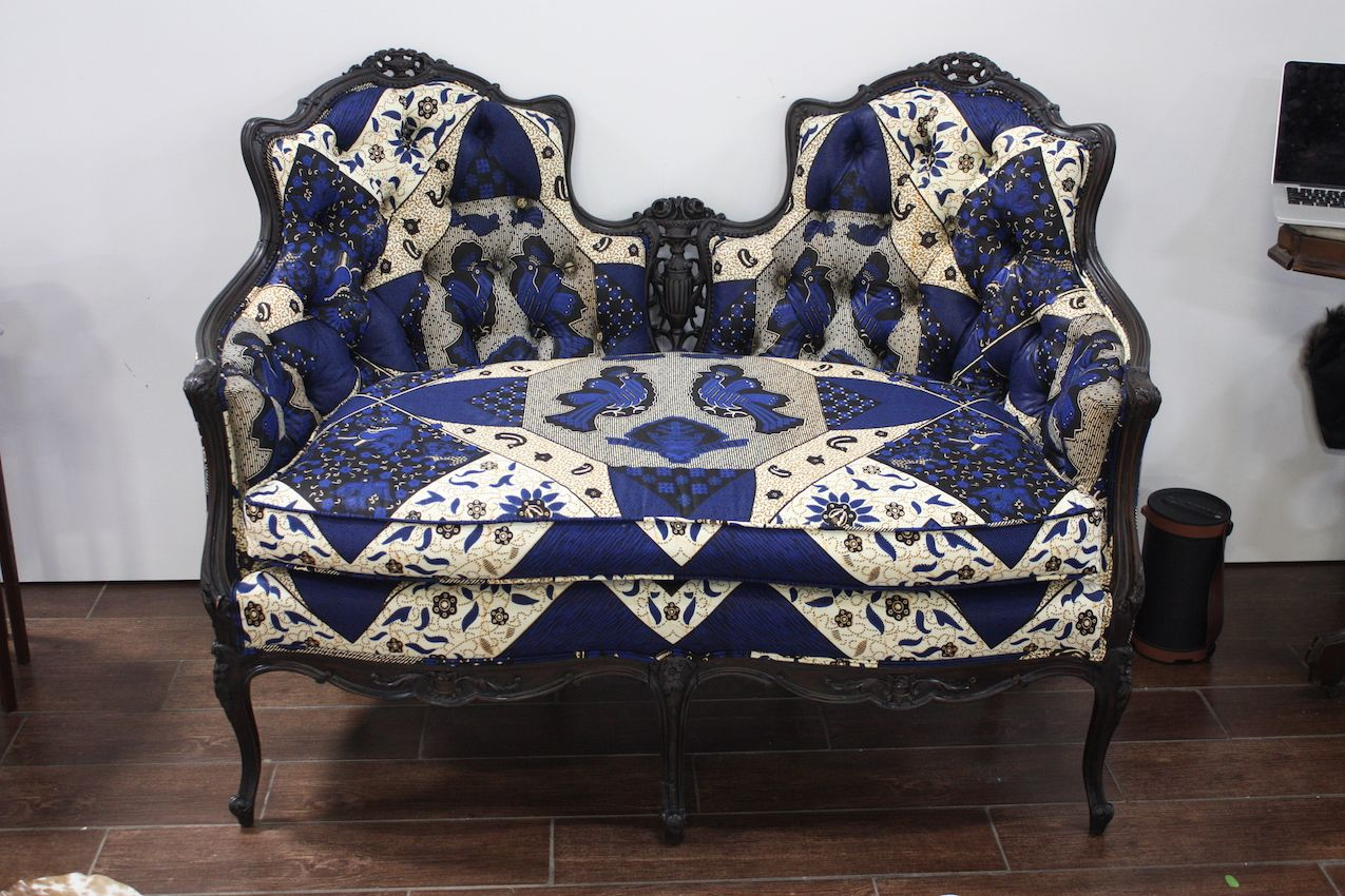 Enitan refurbishes traditional designs in modern textiles.