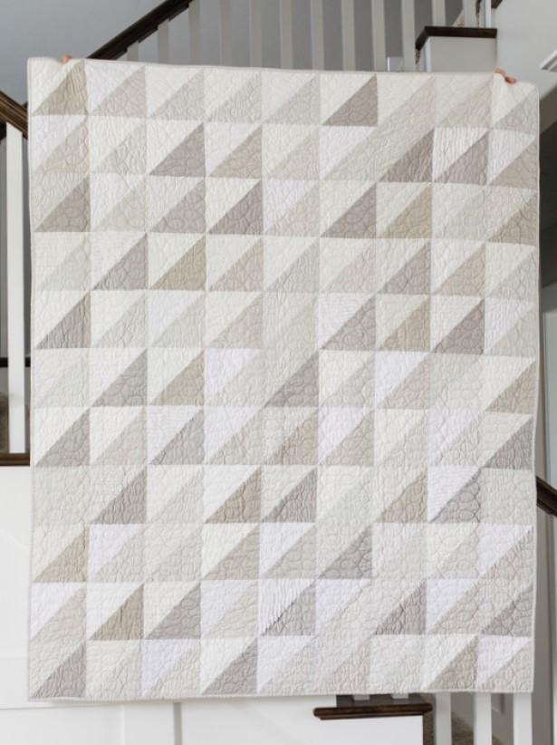 neutral wall art Neutral Hanging Quilt