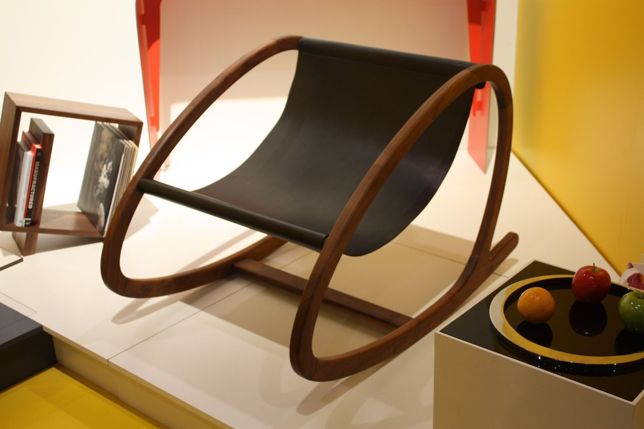 Modern yet earthy, this is marvelous take on the old rocking chair.