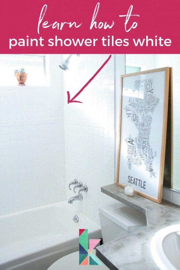 paint your shower tiles white refresh white bathroom