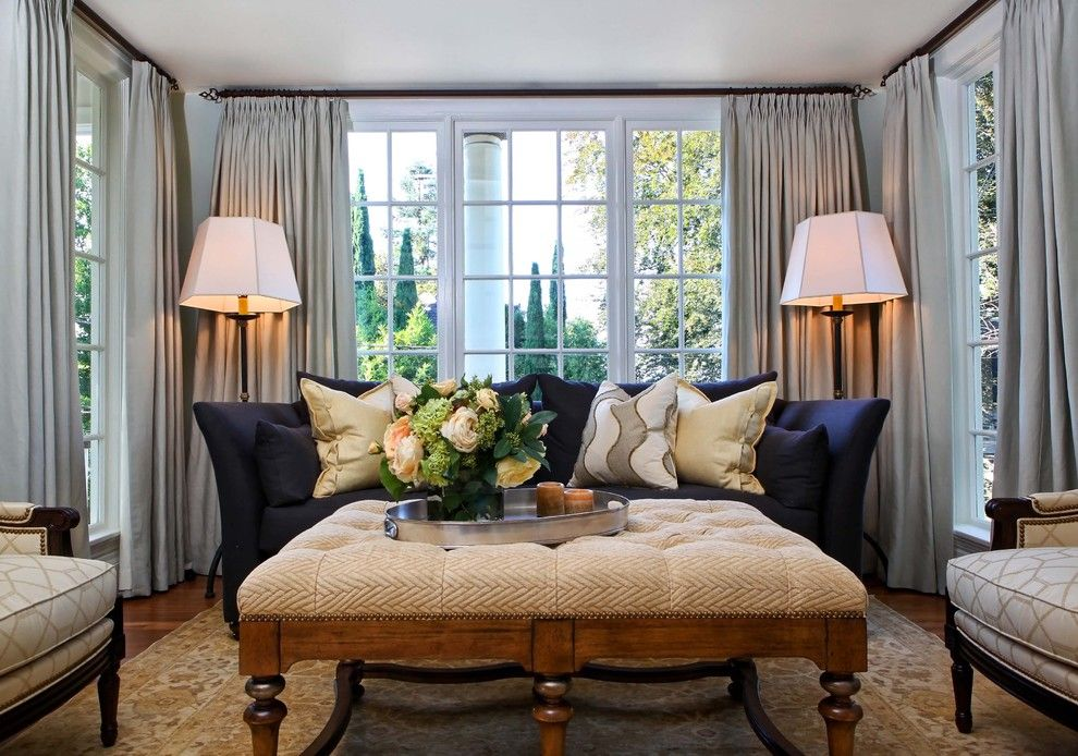 Pinch pleated drapes are among the most formal styles.