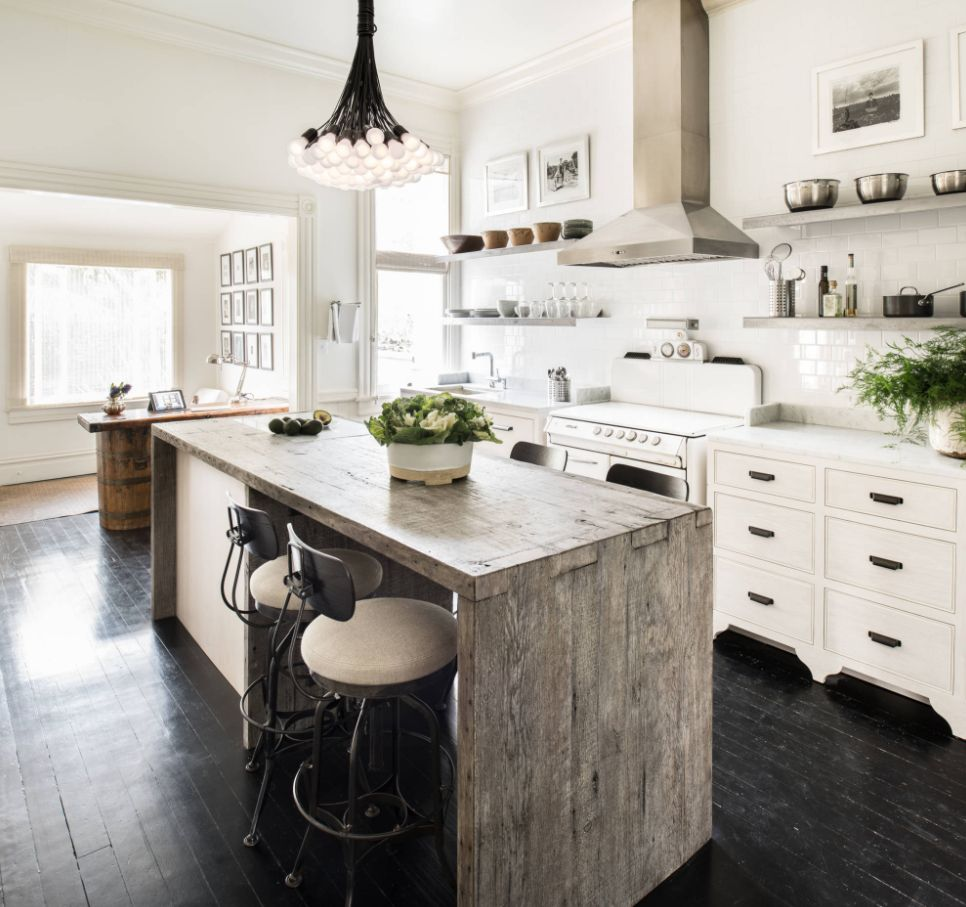 Home Decor Trend Pewter Countertops: Keep Up With The Waterfall Countertop Trend