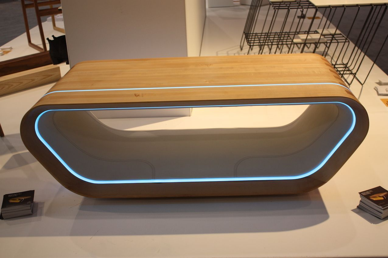 LED lighting and a modern shape make this a popular prototype design.