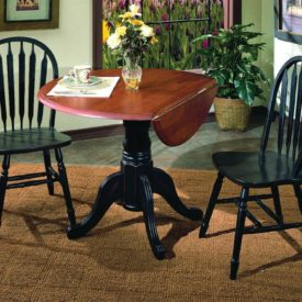Round table drop leaf