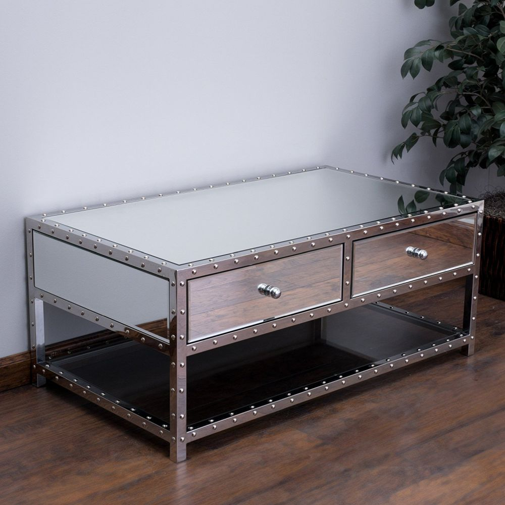 mirrored side table living room mirrored coffee table the glamorous accent every living 22804