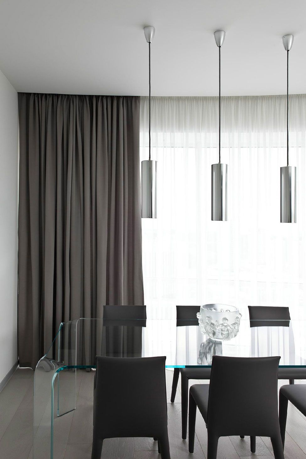 Modern curtains are often a single color.
