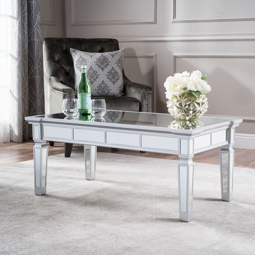 Furniture Living Room Tables Accent Tables Mirrored