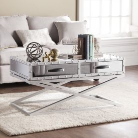 Southern Enterprises Lazio Mirrored 2 Drawer Cocktail Table Design