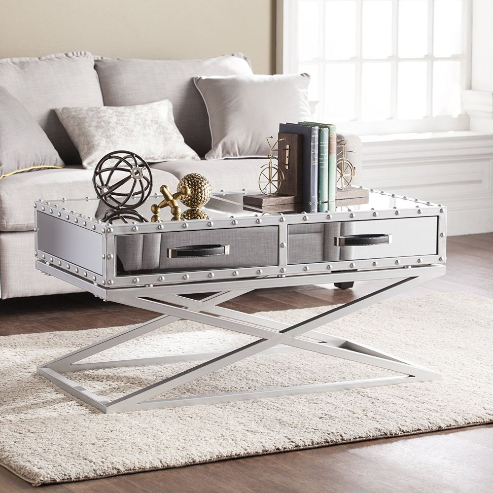How To Bring Glamour Into The Living Room With A Silver ...