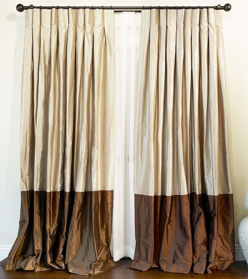 Real silk drapes must be lined and will have a natural, tousled look.