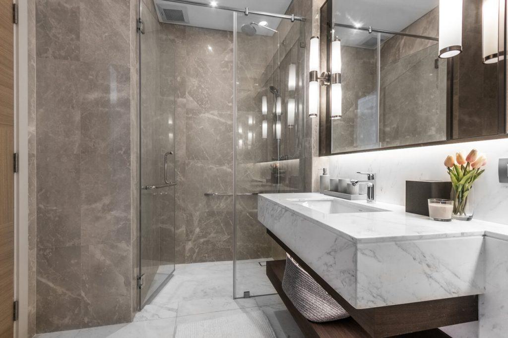 white marble refresh white bathroom