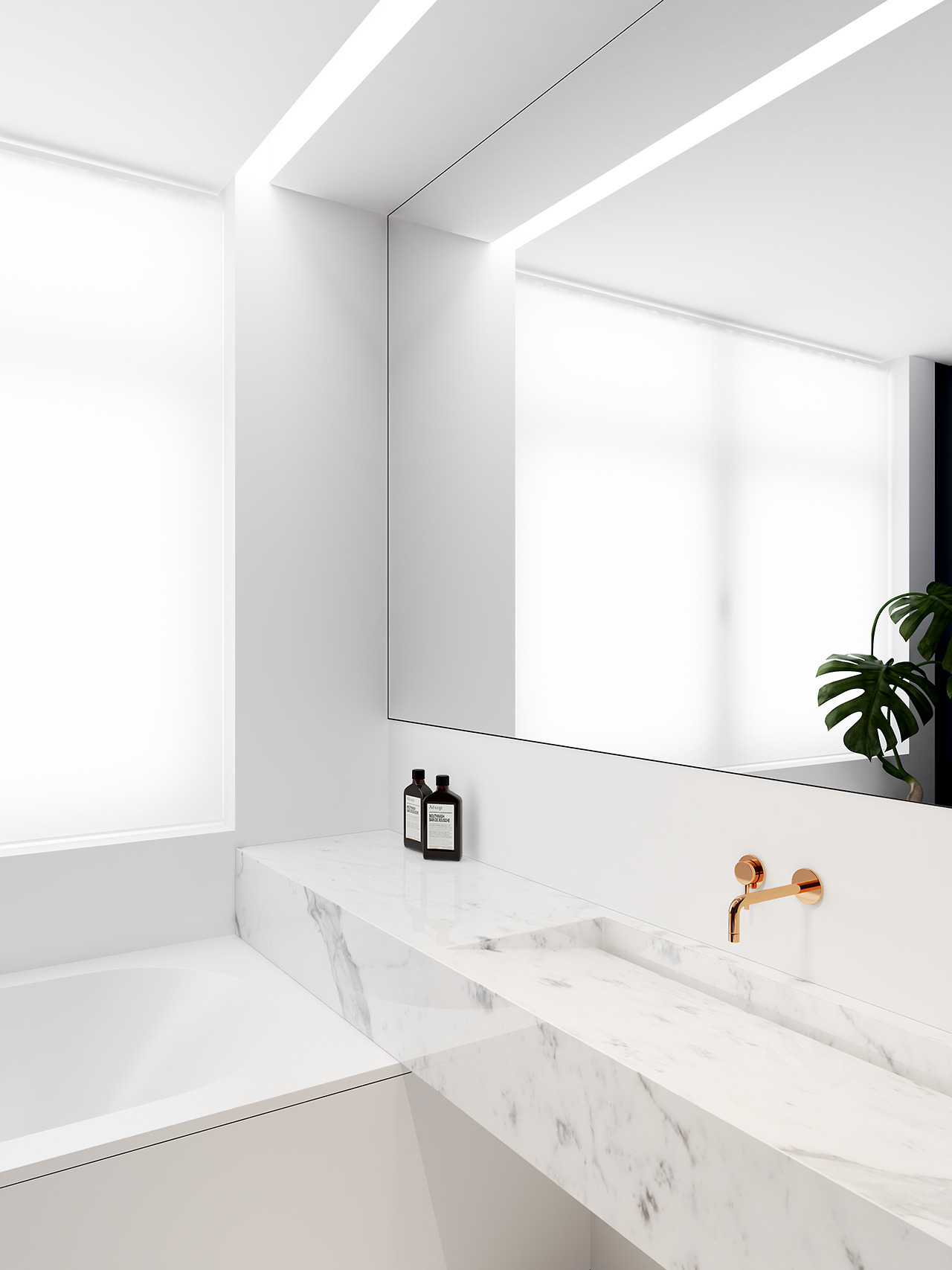 mesmerizing white bathroom design | 15 Ways to Refresh Your White Bathroom With Style