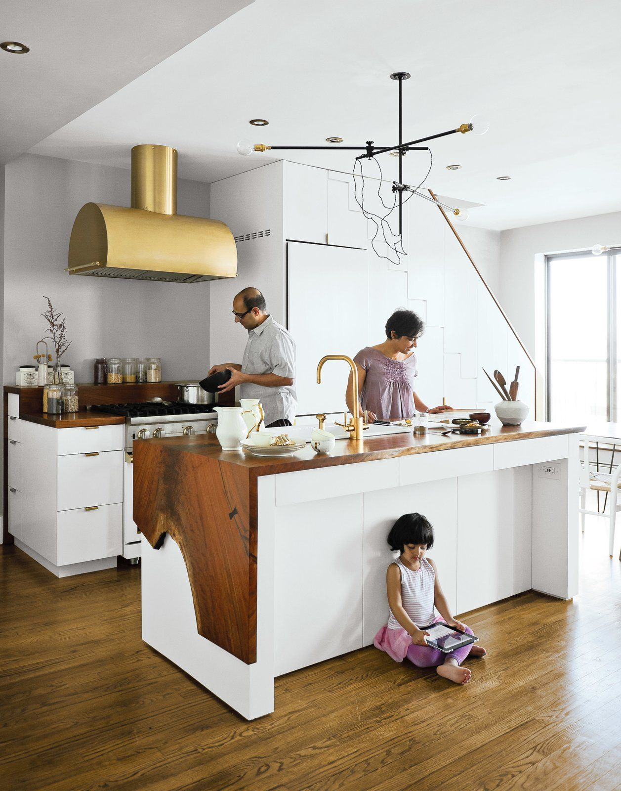 Waterfall Island Kitchen | Keep Up With The Waterfall Countertop Trend Looks That Inspire