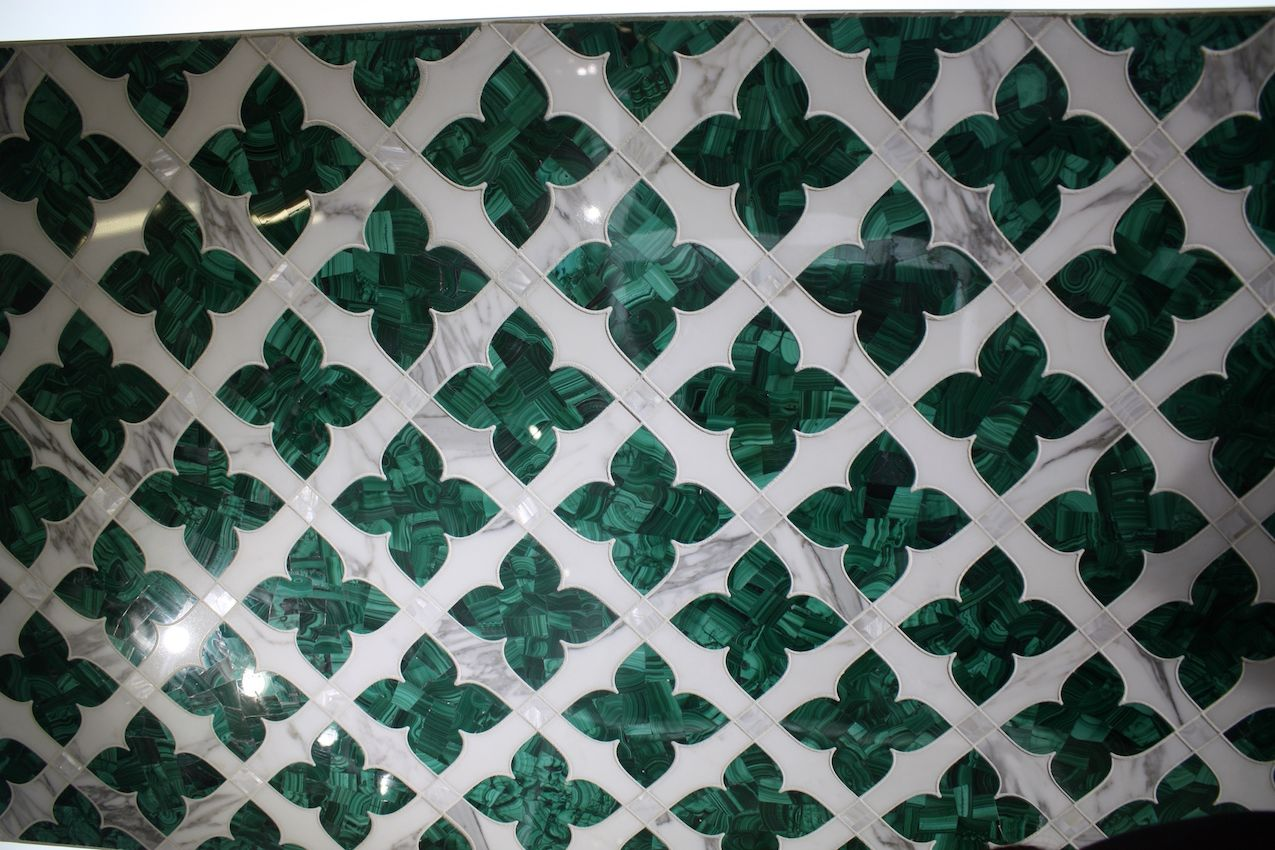 artistic tile malachite decorative