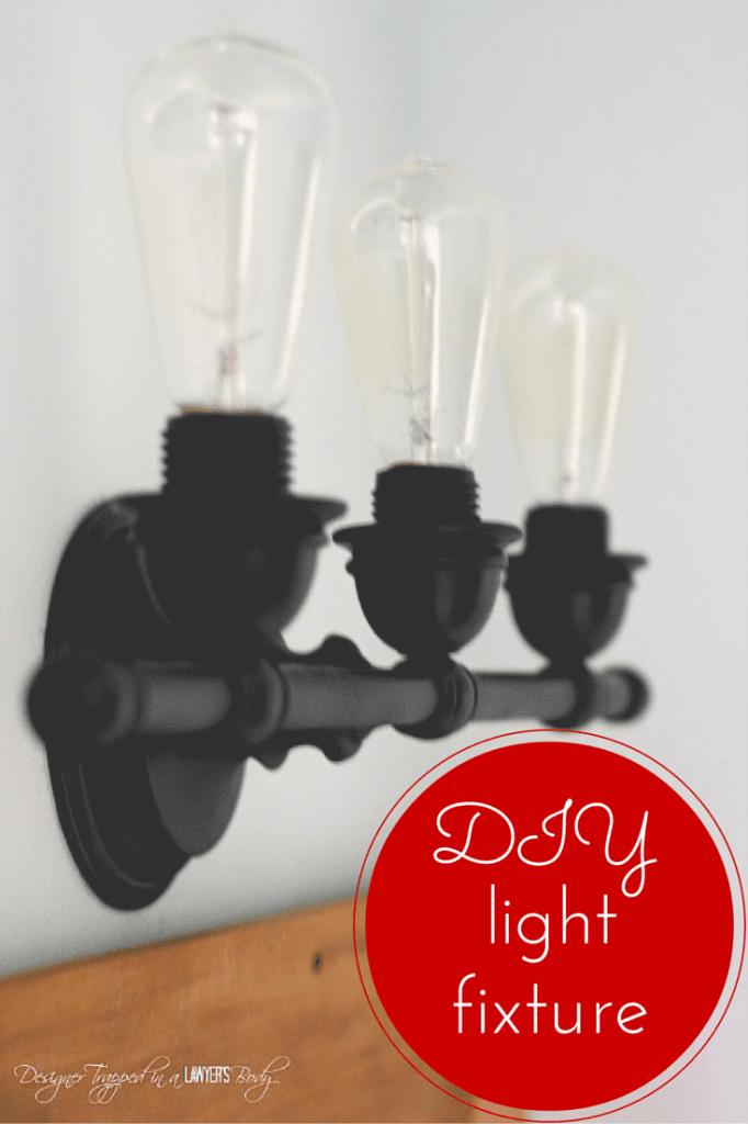 industrial lighting refresh white bathroom