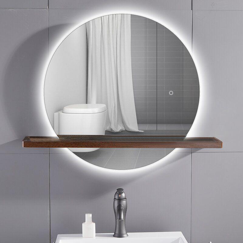 lighted mirrors refresh white bathroom