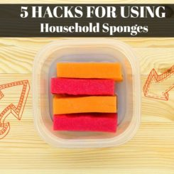 5 Hacks for Using Household Sponges