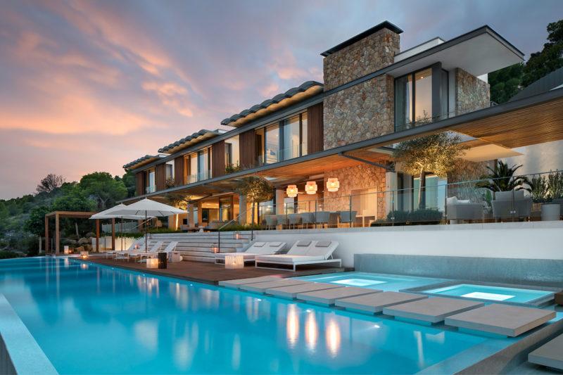 A Wonderful Resort-Style Home Overlooks Mallorca's Stunning Landscape