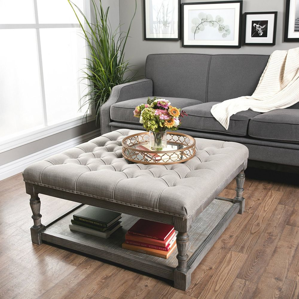 Coffee Table Footrest Storage: Ottoman Coffee Table Ideas