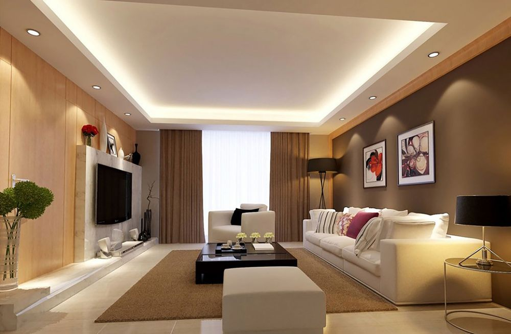 The Recessed Lighting And Lack Of Molding Are Right Choice For A Modern Cove Ceiling