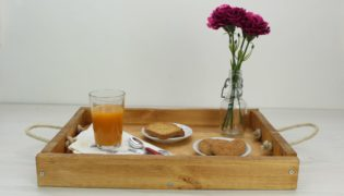 Build an Easy Rustic Wooden Serving Tray