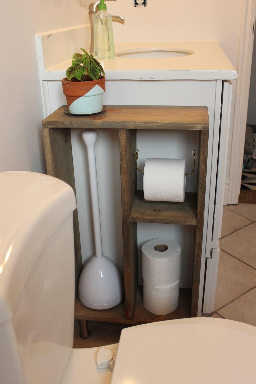 DIY Simple Brass Toilet Paper Holder