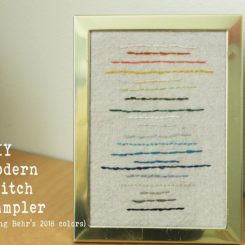 DIY Simple Modern Sampler