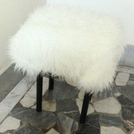 DIY Fur-Covered Stool
