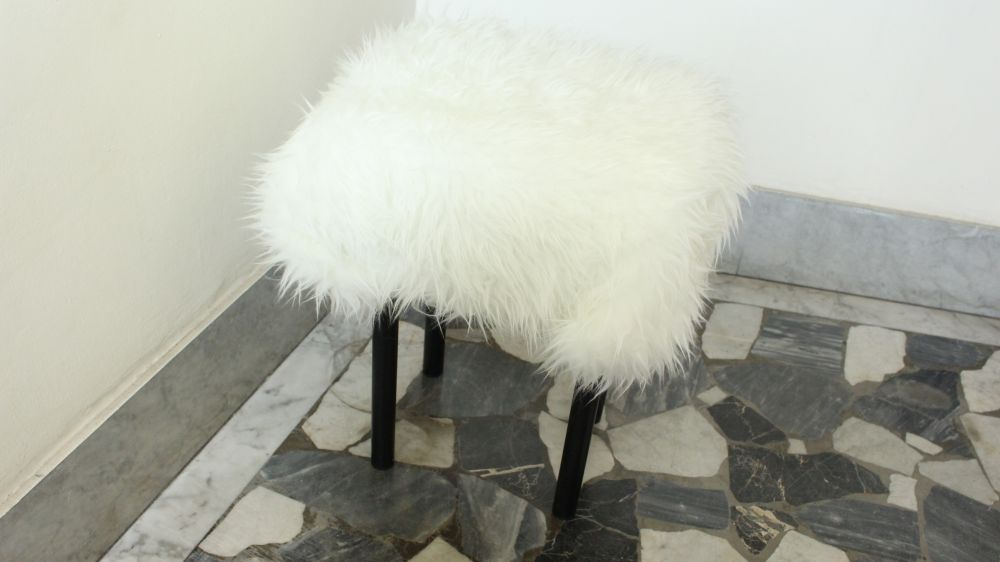 DIY Fur-Covered Stool