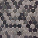 Honeycomb gray backsplash tiles