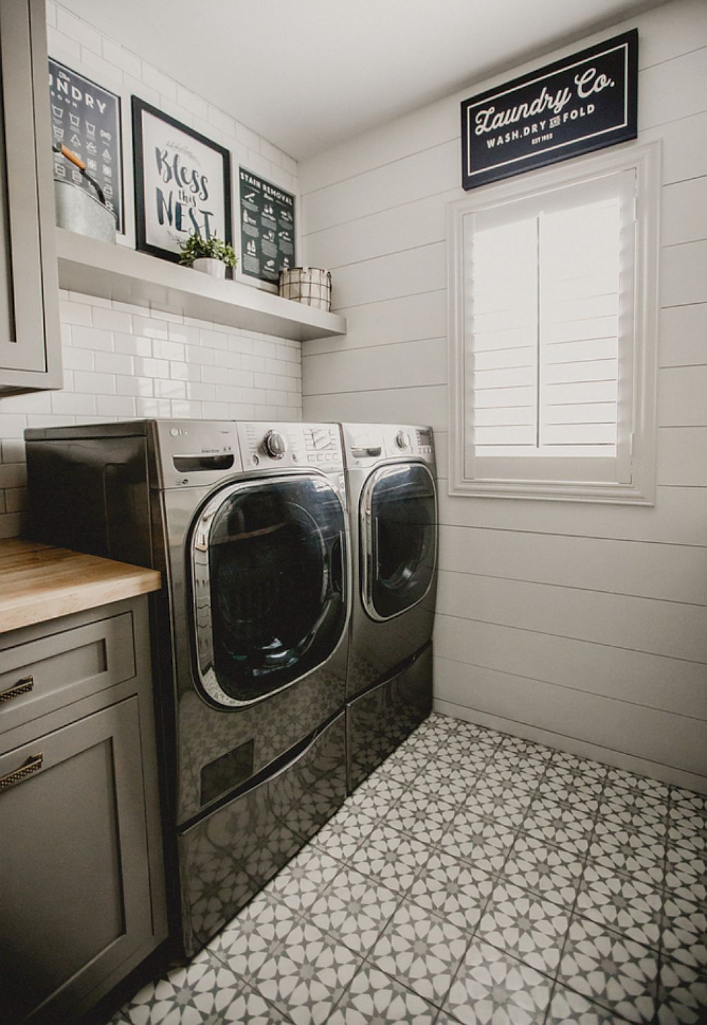 Laundry Room Inspiration Hanging Clothes