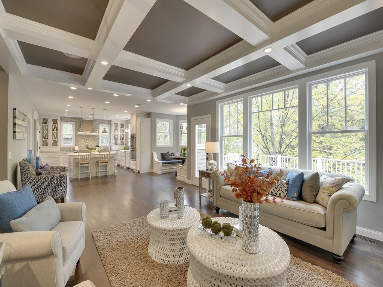 Choosing types of ceilings is an important design decision for Coffered cathedral ceiling