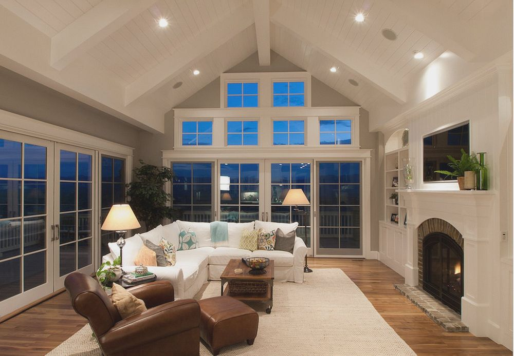 Window design can amplify the effect of a modest cathedral ceiling.