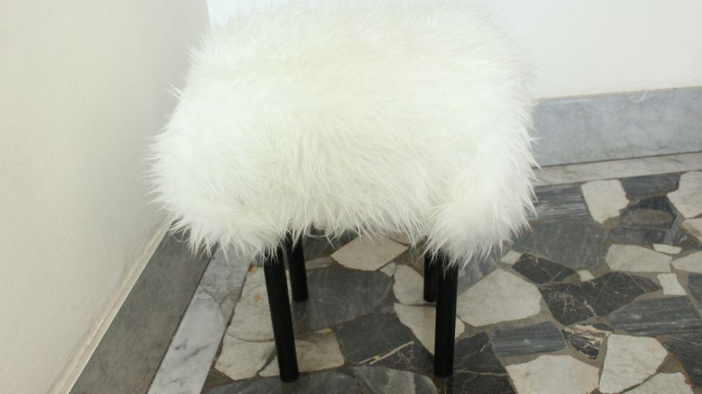 Diy Fur Covered Stool