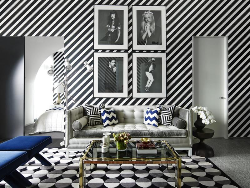 Porter 39 S Paints Living Room Interior Design With Striped