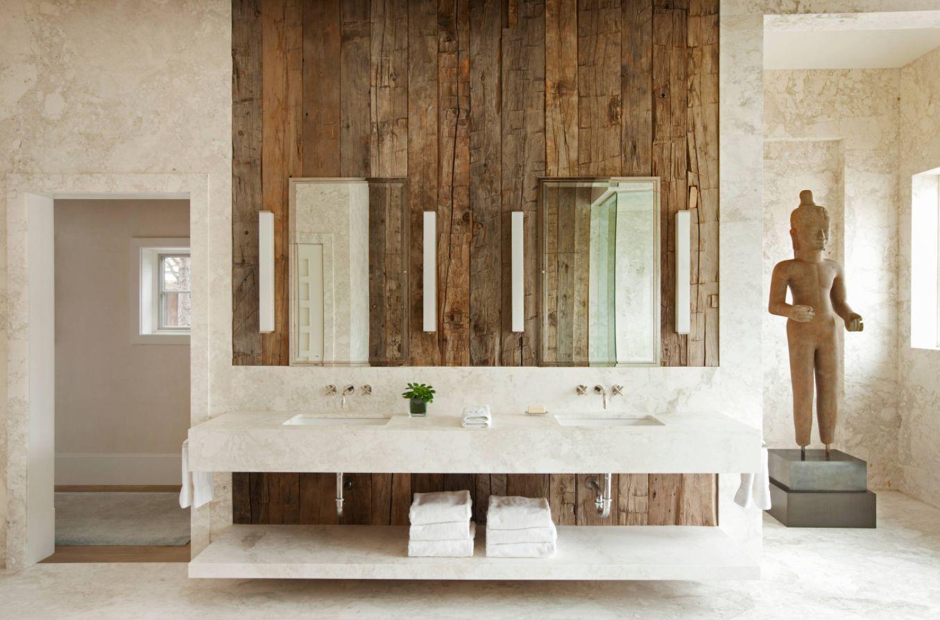 View in gallery. A rustic bathroom ...