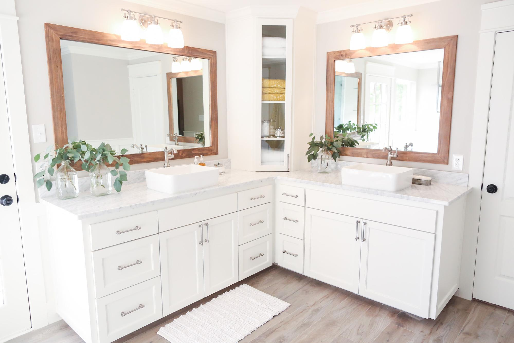 10 Inspirational Corner Bathroom Vanities