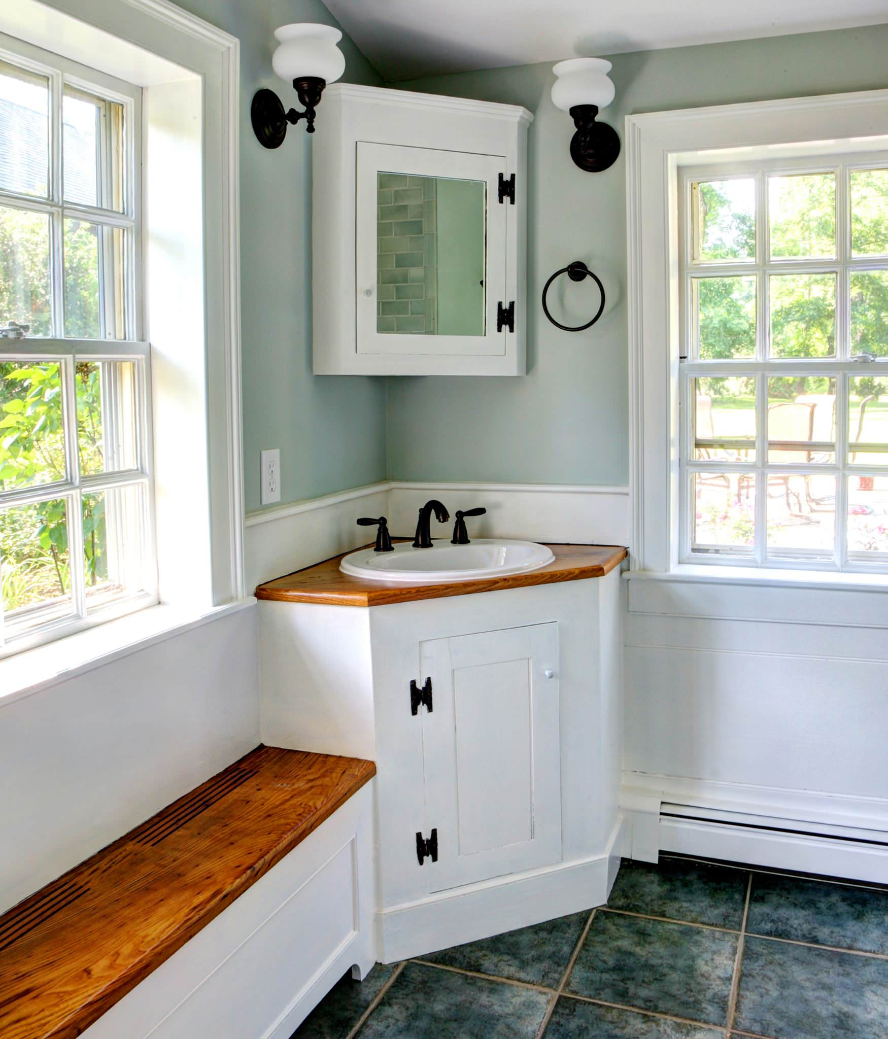 bathroom cabinets corner 10 inspirational corner bathroom vanities 11253