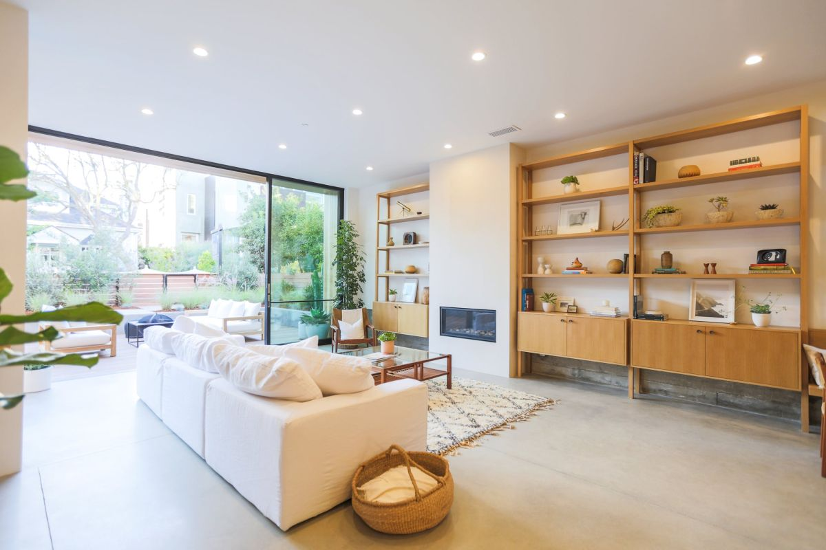 Scandinavian living room interior design home decorating for Interior designs of homes