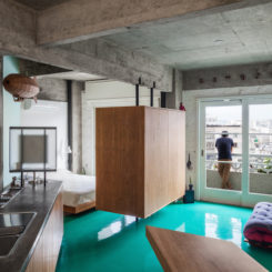 Small Apartment Renovation Lifts The Furniture Off The Awesome Green Floor