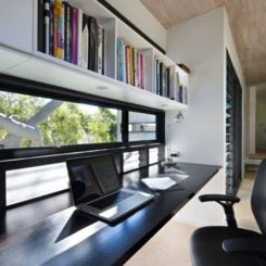 The Marcus Beach House by Bark Architects - Desk Windowsill