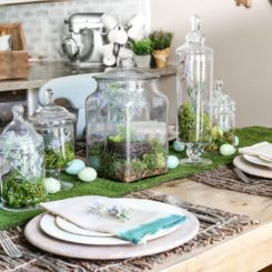 Apothecary Jar Terrarium Easter Centerpiece Decor