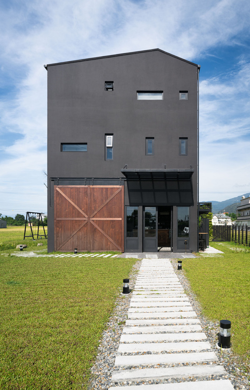 Amazing ... The Black House Is Structured Into Two Zones With Distinct Functions  And Has Two Separate Entrances