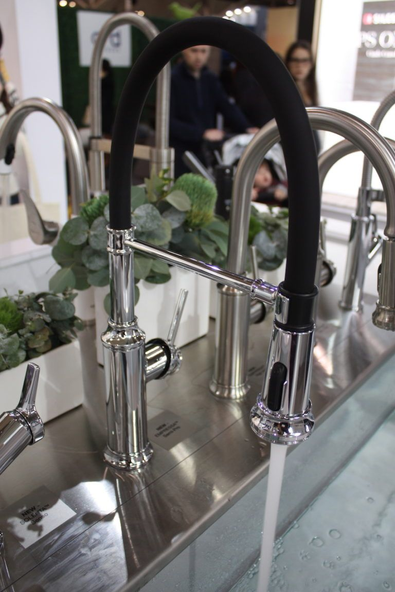 Kitchen sanitation is better with a touchless faucet.