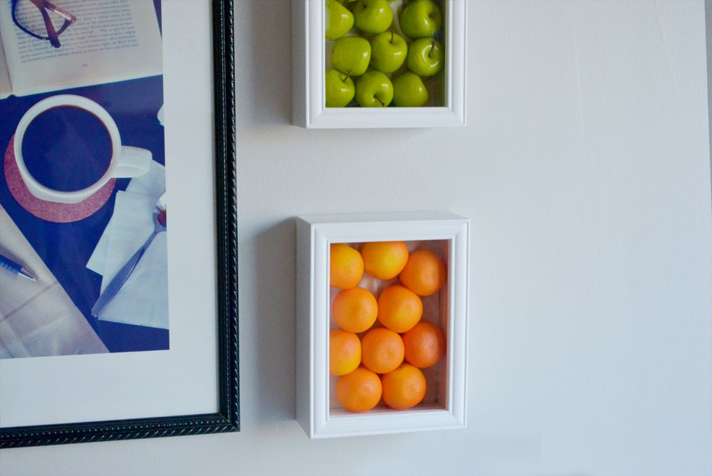 fun and fresh kitchen wall decor ideas you need to see With what kind of paint to use on kitchen cabinets for framed fruit wall art