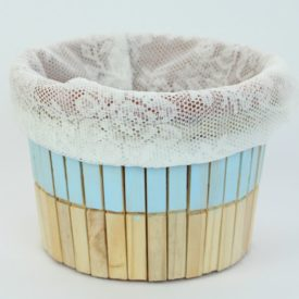 Create A Cute Rustic Clothespin Storage Bucket DIY