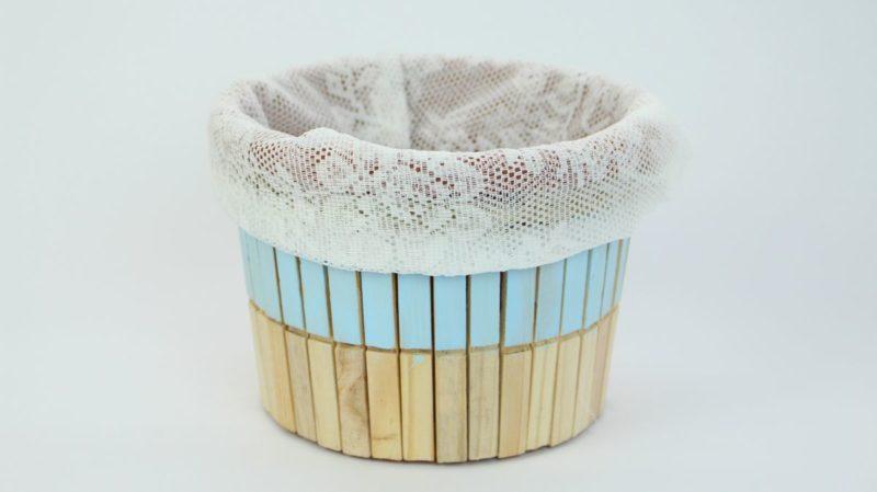 Create A Cute Rustic Clothespin Storage Bucket