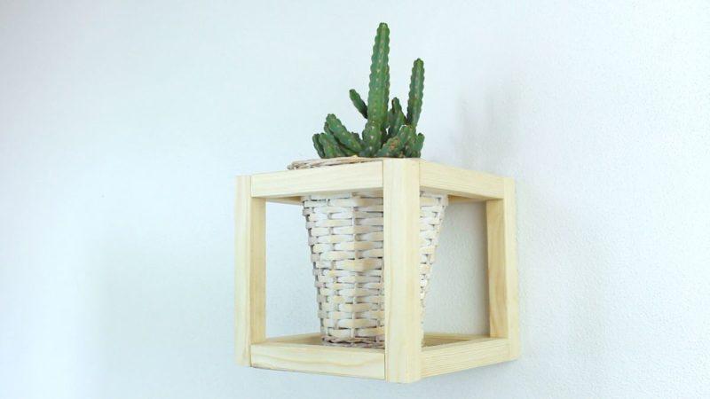 Create a Classy Wood Cube Plant Holder