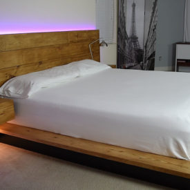 How to build a bed frame with LEDlight